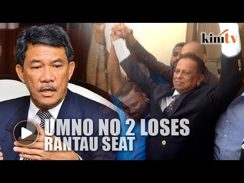 Umno deputy president loses Rantau seat, court orders fresh polls