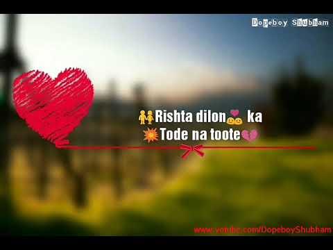 Rishta Dilon Ka Tode Na Toote Sad || Jaanwar Movie  || Whatsapp || Video