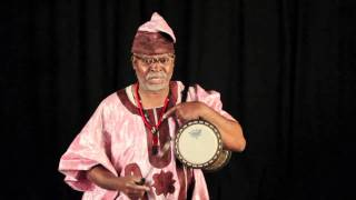 Francis Awe  Talking Drum Lesson - Kanago
