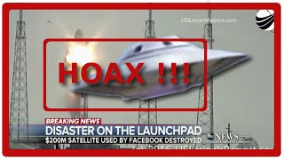 HOAX SpaceX Rocket Destroyed by UFO ENG