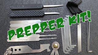 (1509) Emergency Lock Pick Kit for Preppers