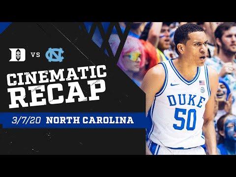 2019-20 Duke Vs. UNC | Cinematic Recap