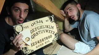 OUIJA BOARD IN MY HAUNTED ATTIC... *we got threatened* thumbnail