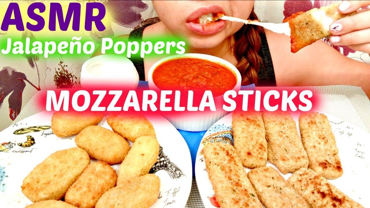 No Talking Asmr Mozzarella Sticks Jalapeno Poppers Mukbang Eating Show Eating Sounds
