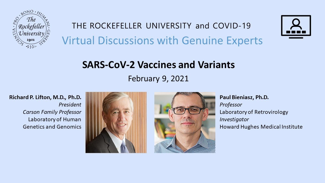 Comments on prof. Paul Bieniasz's presentation on 'SARS-CoV-2 Vaccines and variants'