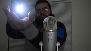 ASMR exploring triggers with flashlight (tapping, visual, no talking)