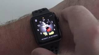 ошибка в Apple Watch 6.0.1 мики маус не говорит время!