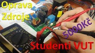 """Studenti VUT opravili zdroj a ušetřili pět tisíc! - """"návod"""" na opravu zdroje 2/2"""