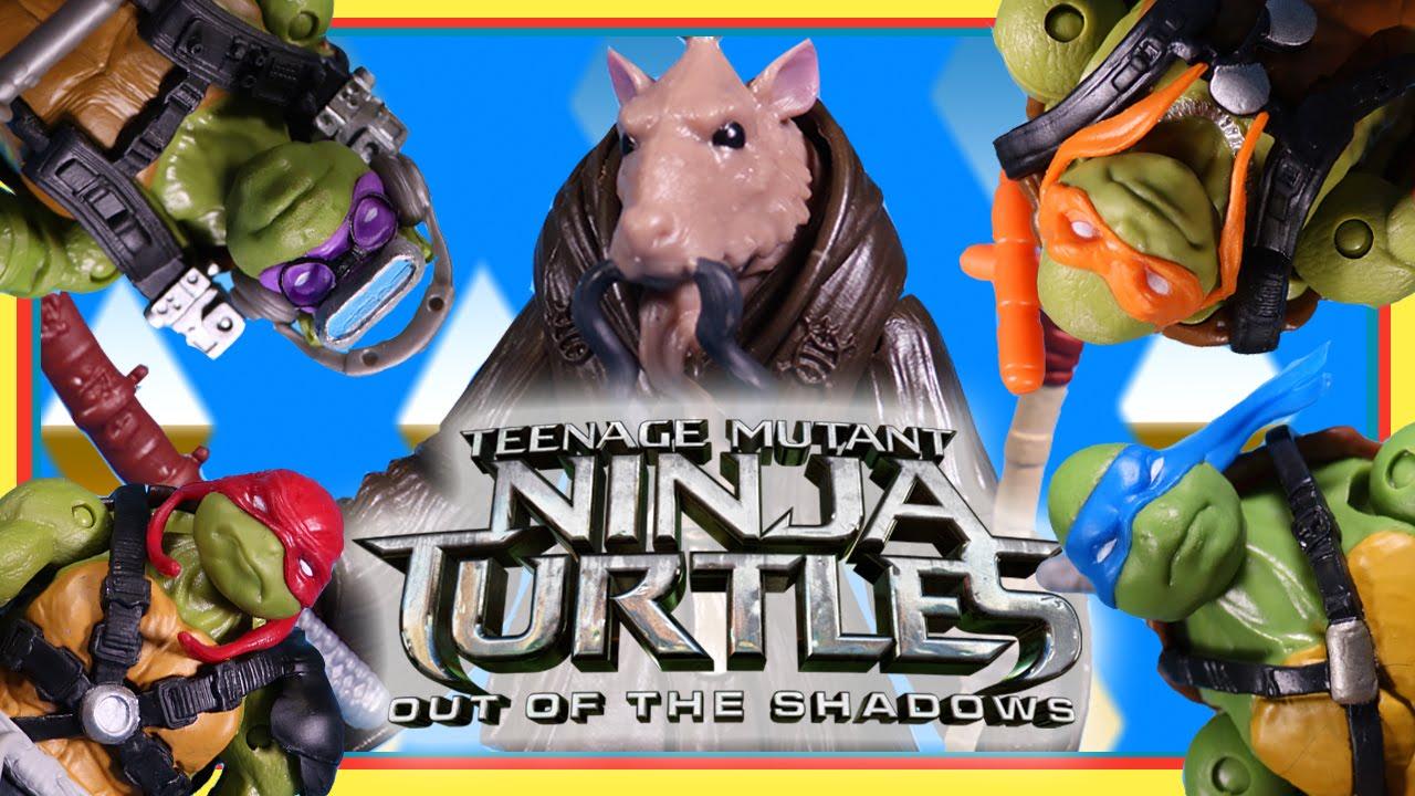 Teenage Mutant Ninja Turtles Out Of The Shadows Splinter Figure Training The Turtles Youtube