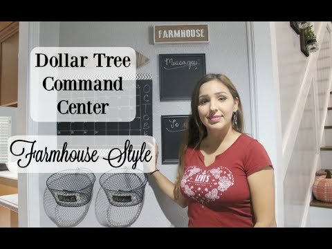 DOLLAR TREE COMMAND CENTER | FARMHOUSE STYLE | DIY 2018