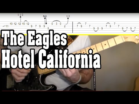 The Eagles - Hotel California Guitar Tutorial w/TABS