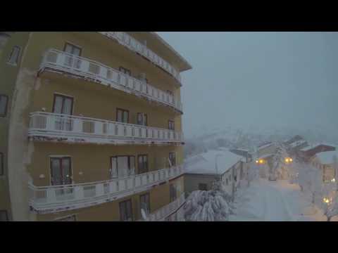 Roio Piazza - nevicata 2017