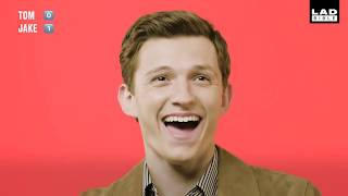 tom holland but it's just him laughing