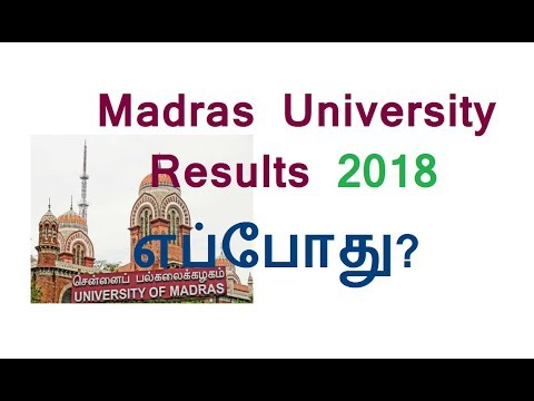 Madras University UG-PG Results 2018 released @ egovernance unom ac