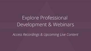 Explore Professional Development Webinars on NascoEducate.com