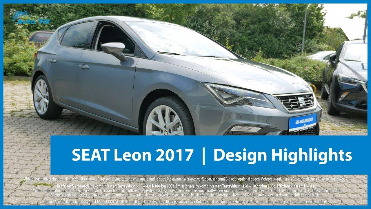 seat leon 2017 design highlights 4k uhd youtube. Black Bedroom Furniture Sets. Home Design Ideas