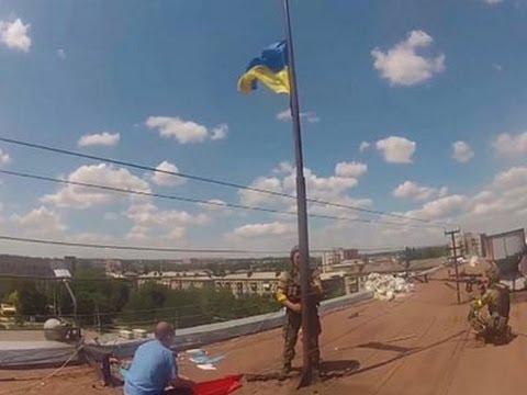 Raw: Ukrainian Troops Recapture Slovyansk