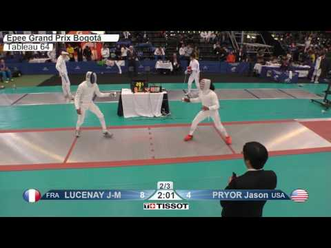 FE M E Individual Bogota COL Grand Prix 2017 T64 04 red PRYOR USA vs LUCENAY FRA