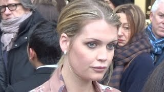 Lady Kitty Spencer @ Paris Fashion Week 23 january 2017 show Schiaparelli / Janvier #PFW