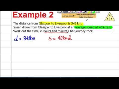 GCSE Maths Revision - Compound Measures (1) - Speed