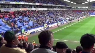 Birmingham fans at Bolton | Davo's Diary