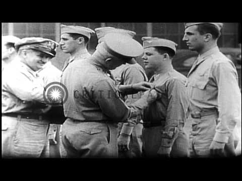Highlights in career of U.S. Air Force General Henry (Hap) Arnold.   World War II...HD Stock Footage