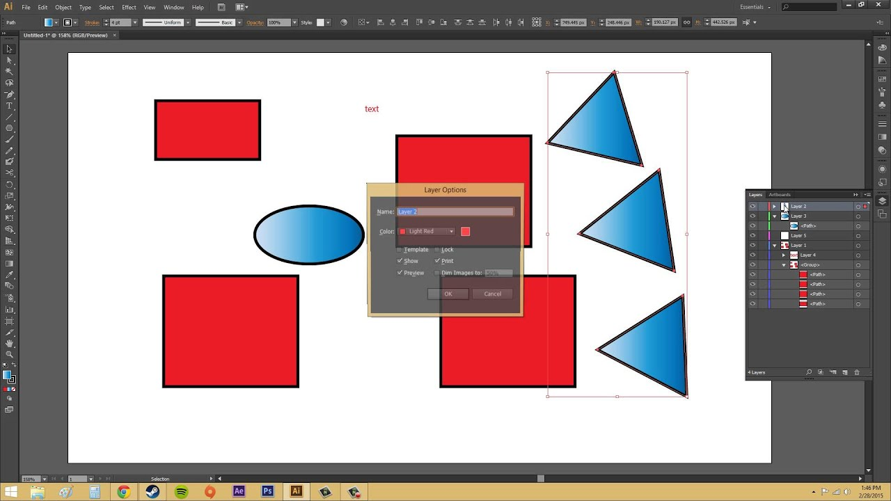 how to move layers in illustrator