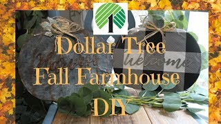 Dollar Tree Fall Farmhouse DIY!
