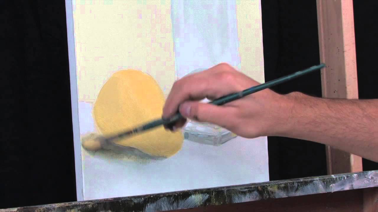 Time Lapse Still Life Acrylic Painting Of Drinking Glass