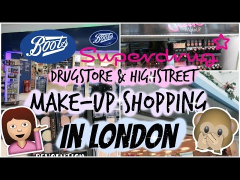 Come Drugstore Make-up Shopping in Boots & Superdrug! | London | Highstreet Brands