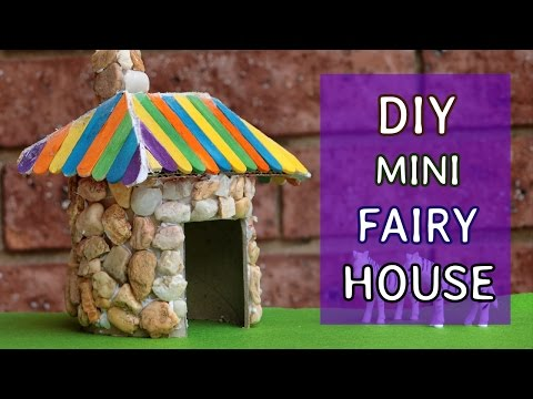 DIY Mini Fairy House #2 : from paper tube | Crafts ideas