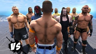 John Cena VS WWE Superstars (GTA V WWE Mods)