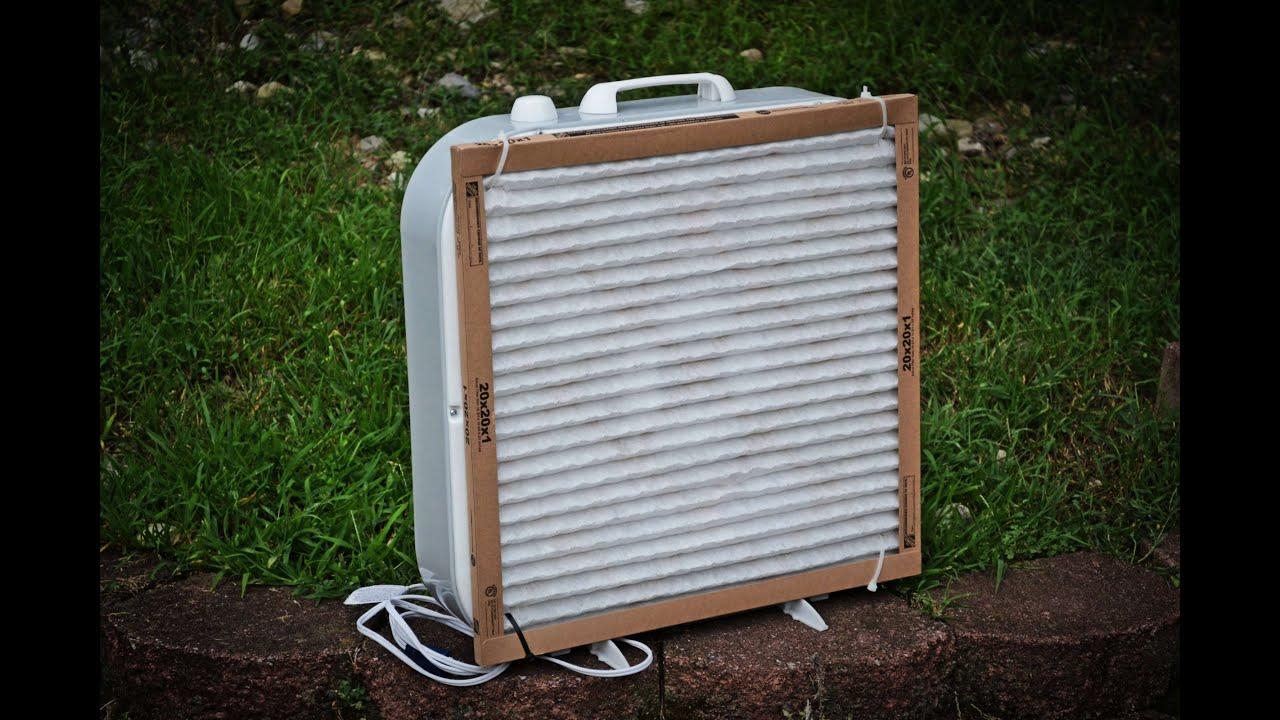 Diy Home Air Purifier Using A Box Fan Youtube