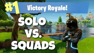Fortnite: Solo vs. Squads Win! (Fortnite PC Gameplay)