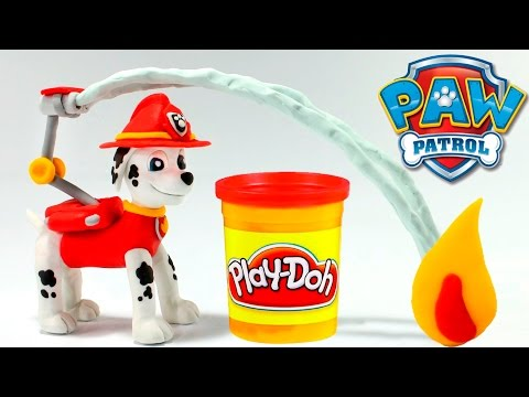 PAW PATROL MARSHALL STOP MOTION VIDEOS Play Doh Stop Motion Paw Patrol Videos Patrulla Canina + Toys