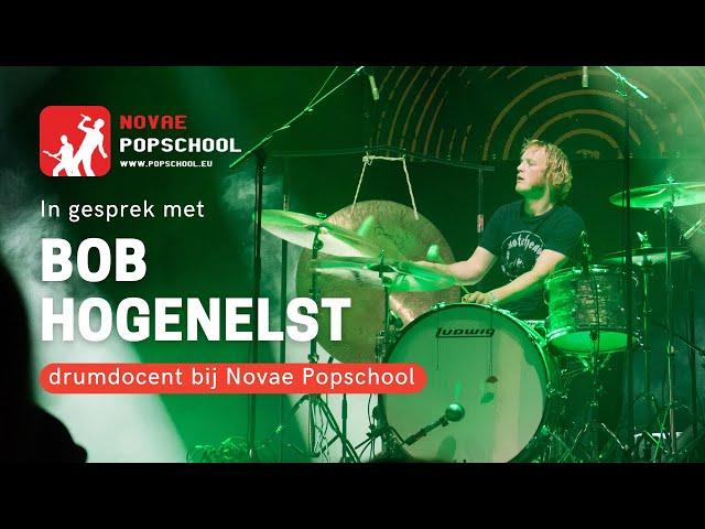 In gesprek met Bob Hogenelst, drumdocent van Novae Popschool.
