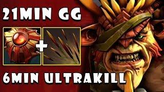 [Bristleback] WTF 6MIN ULTRAKILL and Destroyed Everyone in 21Min GG FullGame Dota 2 7.22d