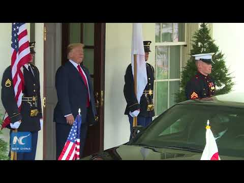 Trump welcomes Abe at the White House