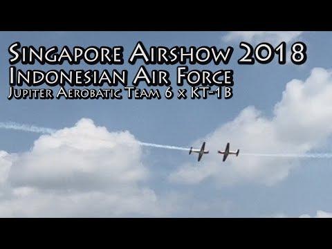 Singapore Airshow 2018 | Aerial Display - TNI-AU Jupiter Aerobatic Team