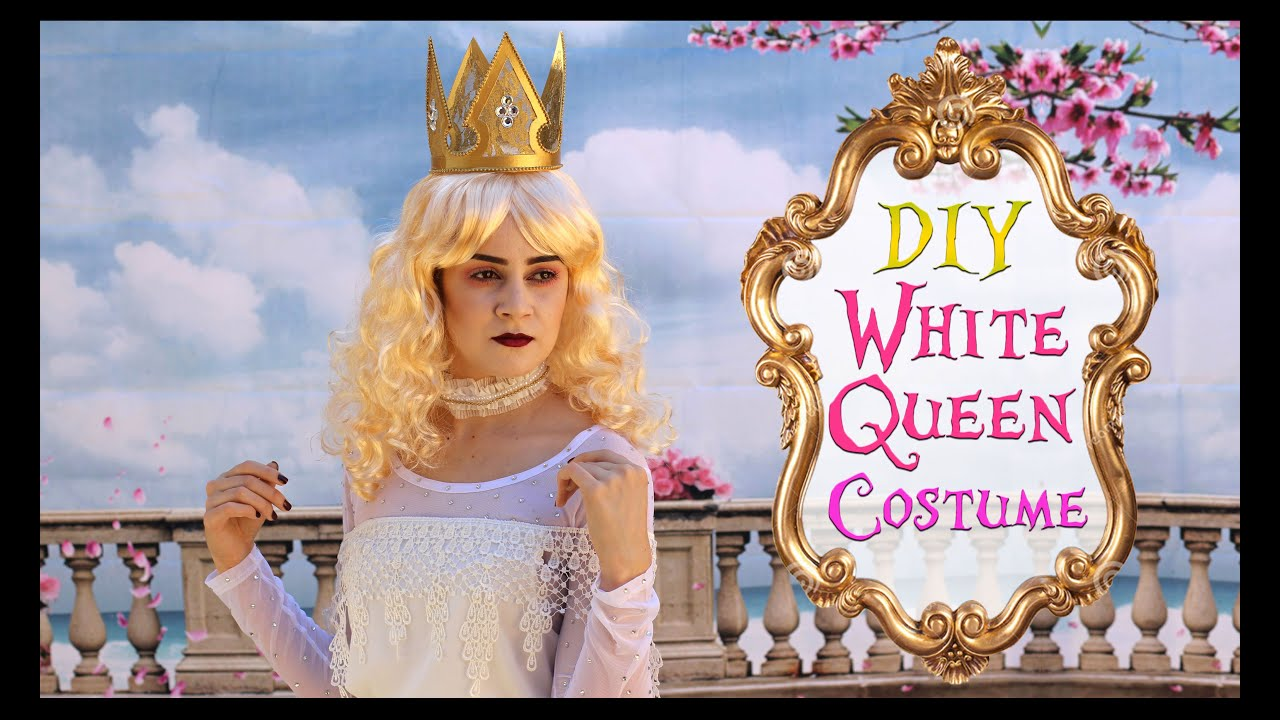 Diy the white queen costume alice through the looking glass diy the white queen costume alice through the looking glass lucykiins youtube solutioingenieria Image collections