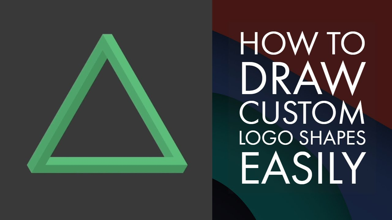 How to draw custom logo shapes easily in Adobe Illustrator CC - Adobe  Illustrator CC 2018 [7/39]
