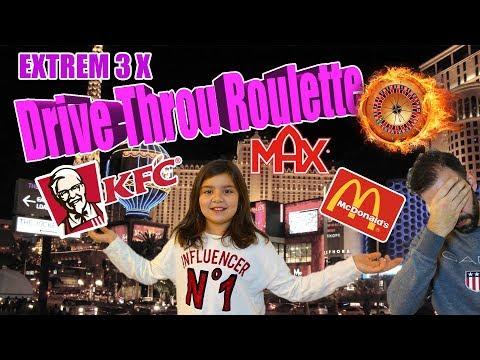 Drive Throu Roulette / Drive in Roulette Sverige med Familjen. Challenge McDonalds, MAX och KFC