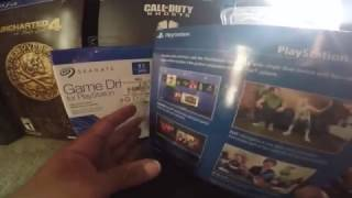 PLAYSTATION 4 SEAGATE GAME HARD DRIVE 1TB AND CAMERA PS4 UNBOXING 1080p 60fps 11/4/2016