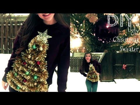 DIY: Ugly Christmas Sweater - DIY: Ugly Christmas Sweater - YouTube