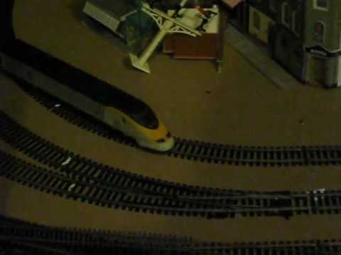 OO HO Jouef Eurostar Model railway train being tested ready for sale on ebay