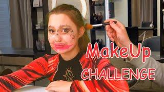 Шок макияж с закрытии глазами Повторяем челленджи угадай блогера