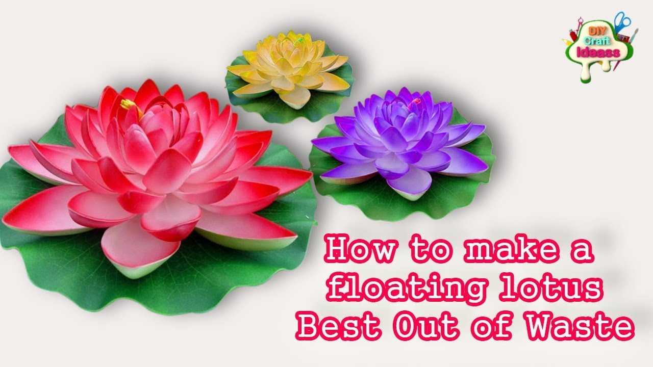 craft ideas using foam sheets how to make floating lotus using foam sheet diy craft 6301