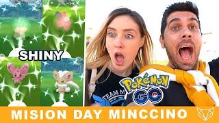 JAMÁS PENSAMOS CONSEGUIR TANTOS SHINIES - MISION DAY DE MINCCINO en Pokémon GO [Neludia]
