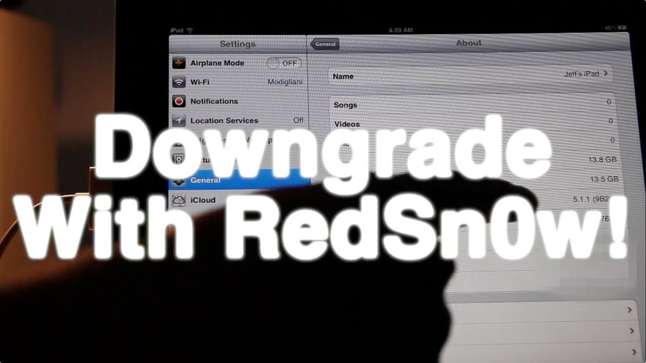 How to Downgrade iPhone 4S Using Redsn0w