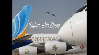 Dubai Air Show 2017 Static Display - A350, 787-10, A380, B737 MAX, B777 HD Walkaround with Go Pro